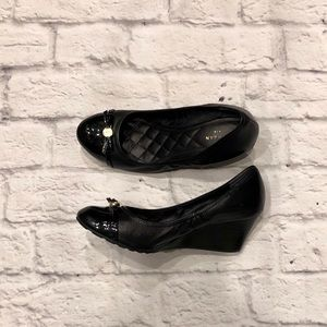 Cole Haan Black Wedge with Patent Leather Toe